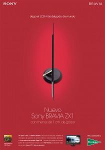 Lanzamiento de un nuevo televisor ultrafino de Sony.