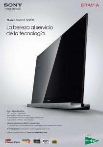 Presentación del revolucionario diseño de los nuevos Tv de Sony.