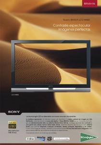 Nuevo TV con sistema de retroiluminación y alto contraste.