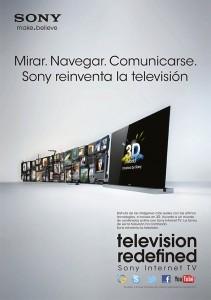 Presentación de los nuevos TV de Sony con conexión a internet.